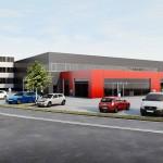Neubau Lackiererei und Karosseriewerkstatt – Fellbach