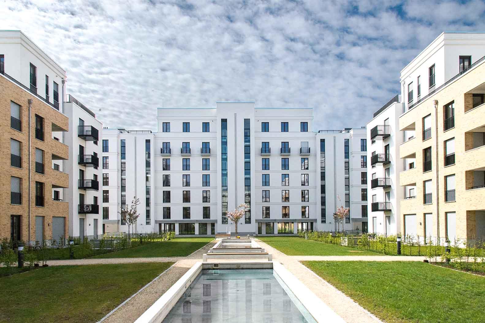 wohnbebauung parkend frankfurt am main oei architekten. Black Bedroom Furniture Sets. Home Design Ideas
